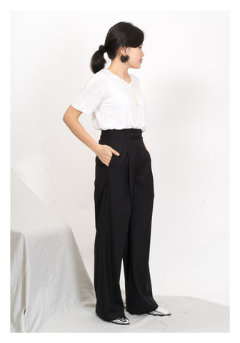 Single Fold Straight Suit Pants - whoami