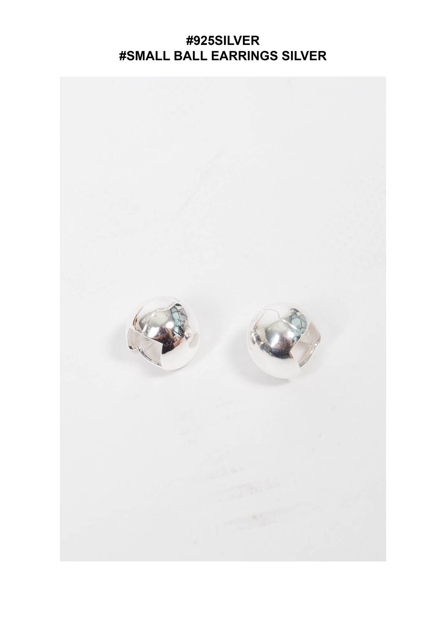 925 Silver Small Ball Earrings Silver