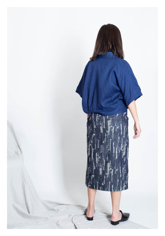 Soft Tie Blouse Blue - whoami