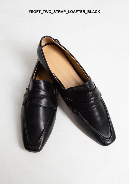 Soft Two Strap Loafer Black - whoami