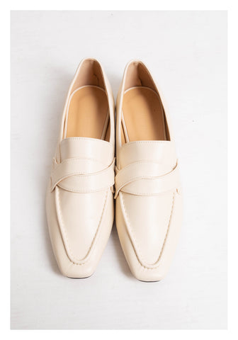 Soft Two Strap Loafer Ivory - whoami
