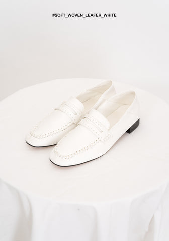 Soft Woven Loafer White