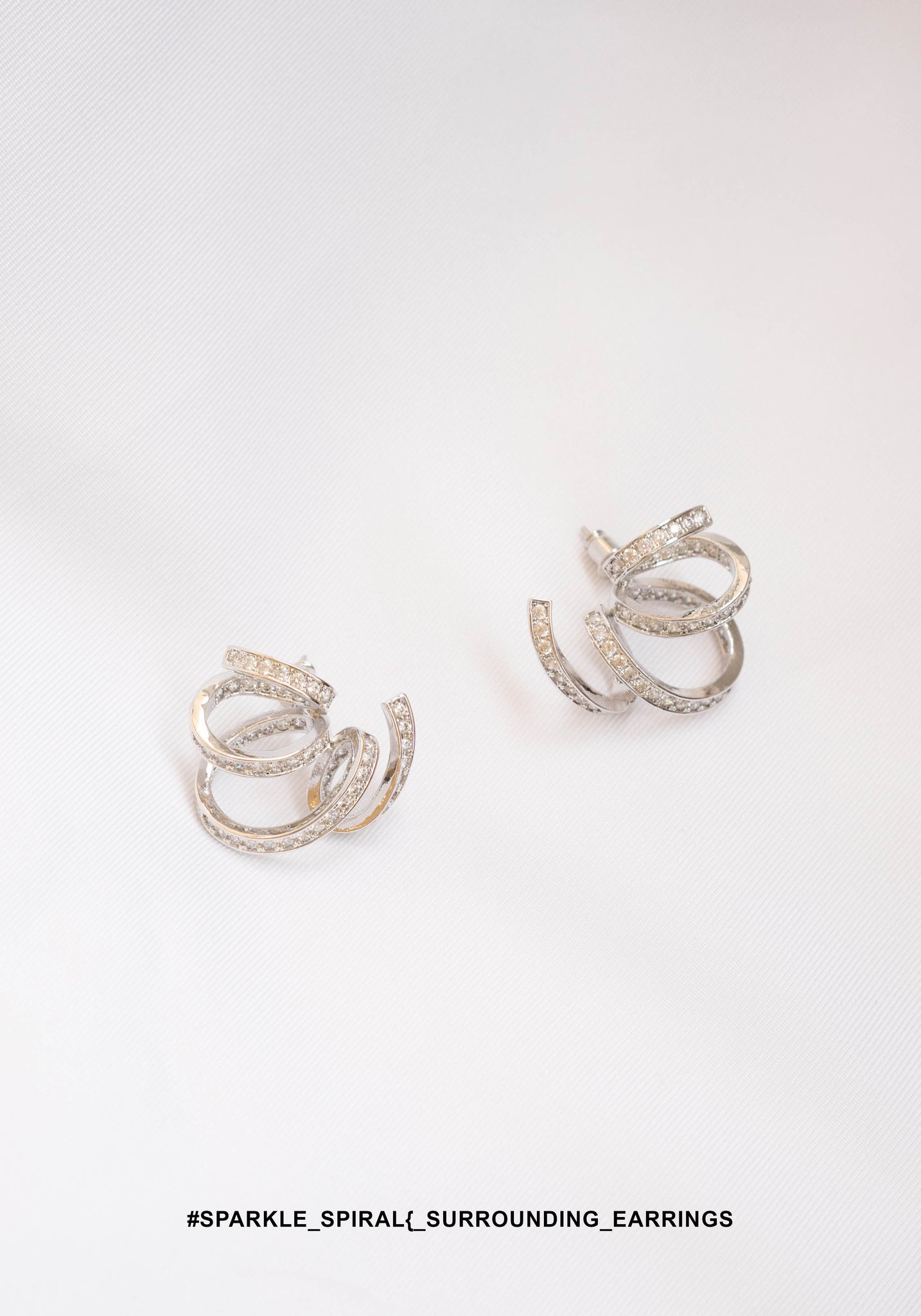 Sparkle Spiral Surrounding Earrings - whoami