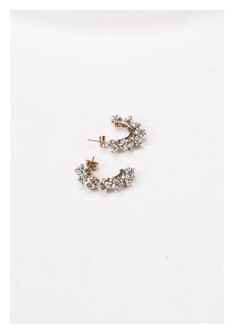 Sparkle Beads Half Hoop Earrings - whoami