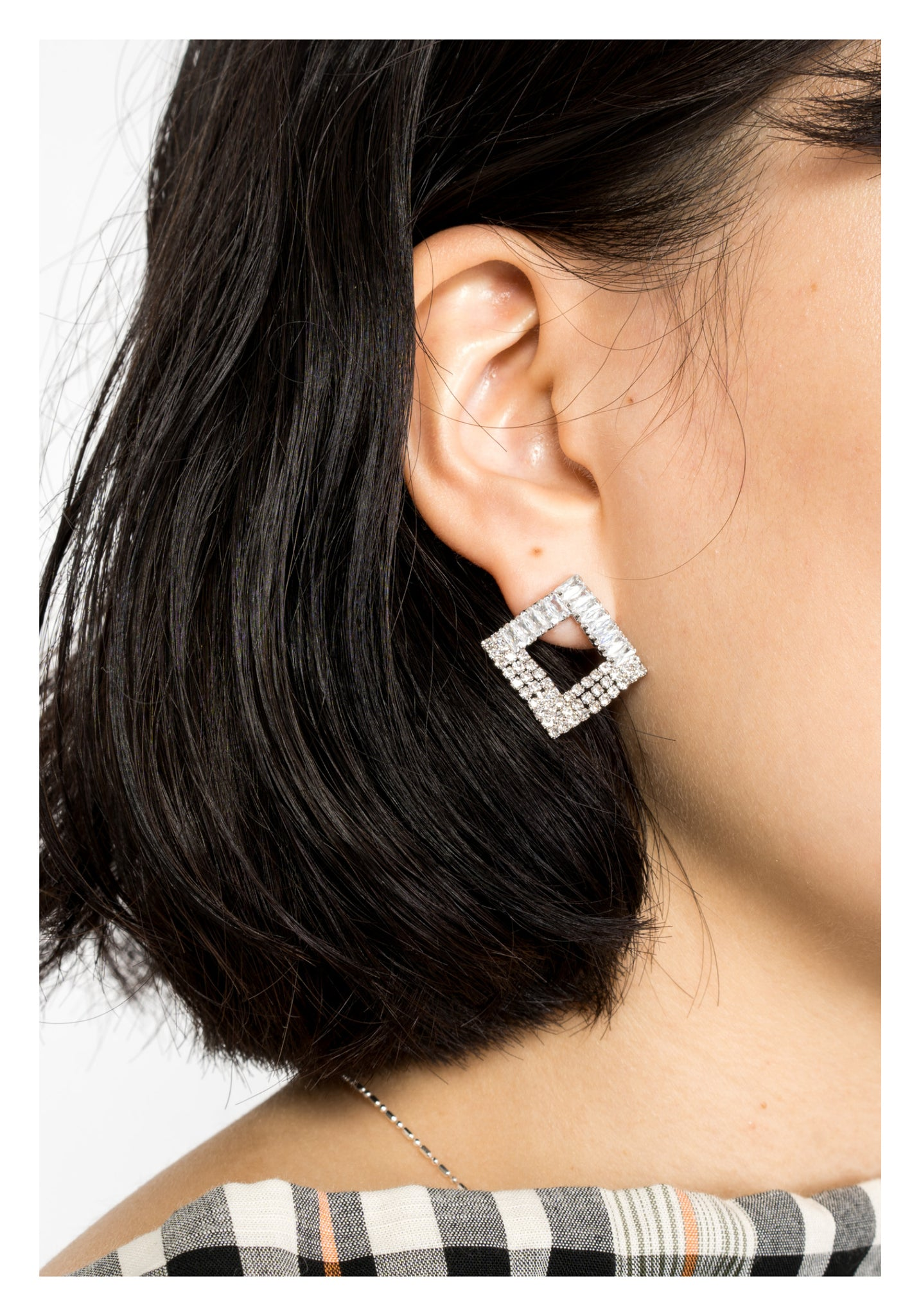 Sparkle Gem Square Earrings - whoami