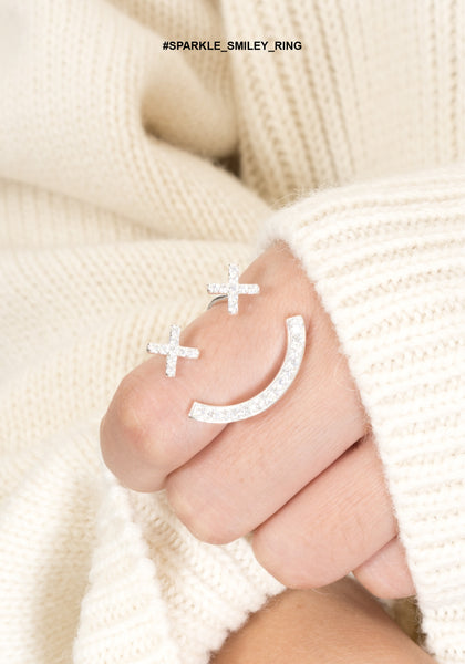 Sparkle Smiley Ring