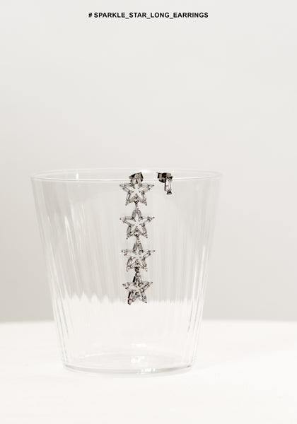 Sparkle Star Long Earrings - whoami