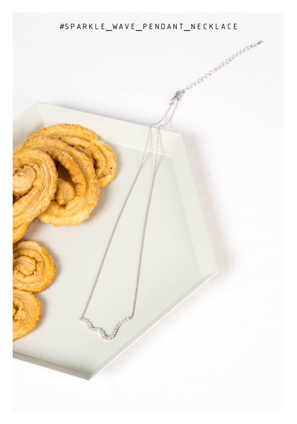 Sparkle Wave Pendant Necklace - whoami
