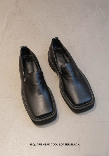 Square Head Cool Loafer Black - whoami