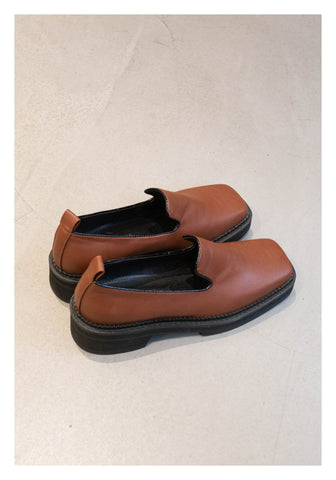 Square Head Cool Loafer Brown - whoami