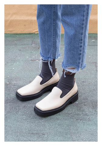 Square Head Cool Loafer Ivory - whoami