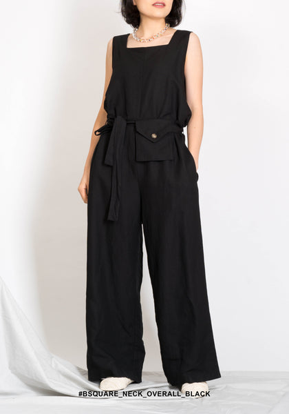Square Neck Overall Black - whoami