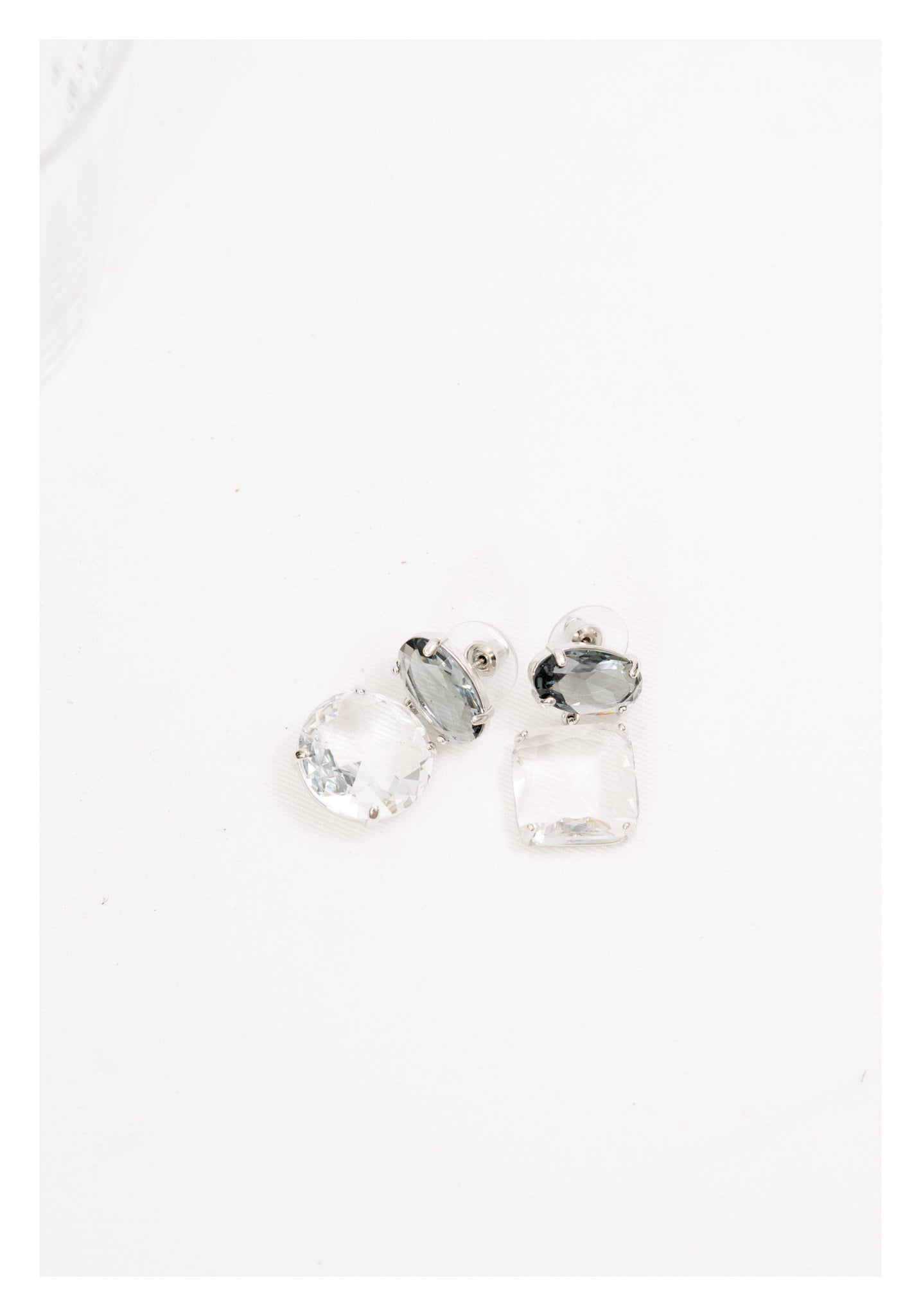 Square and Circle Bold Round Gem Stone Earrings - whoami
