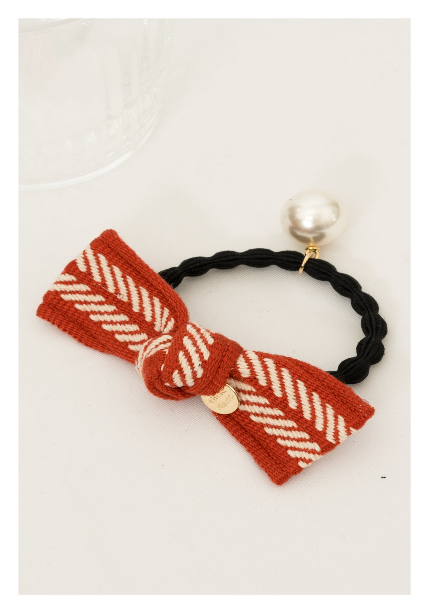 Stripe Ribbon Hairband Orange - whoami