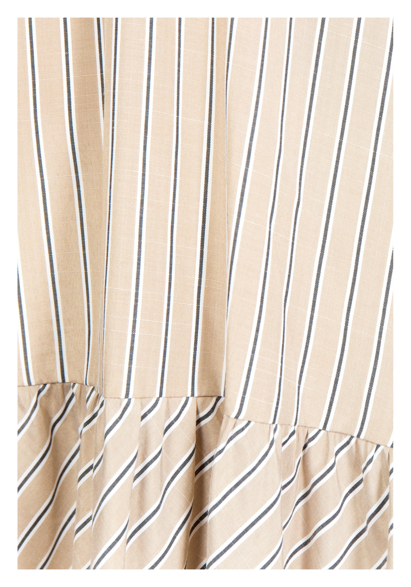 Stripe Tiered Tent Dress Beige