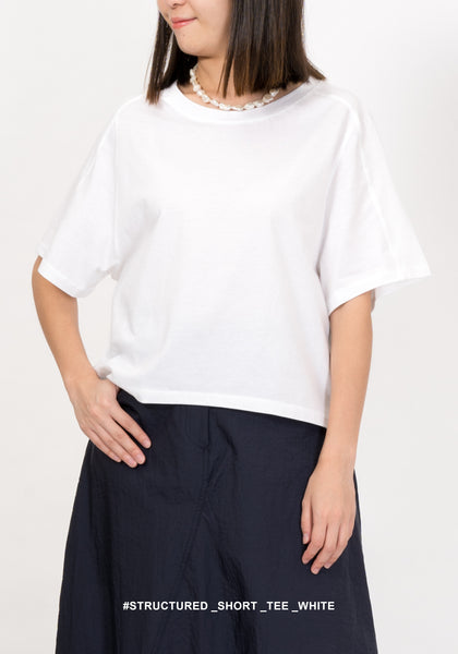Structured Short Tee White