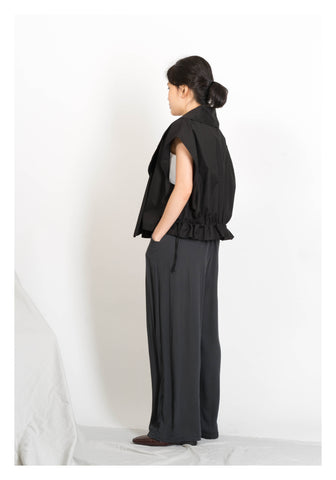 Summer Trench Vest Jacket Black - whoami