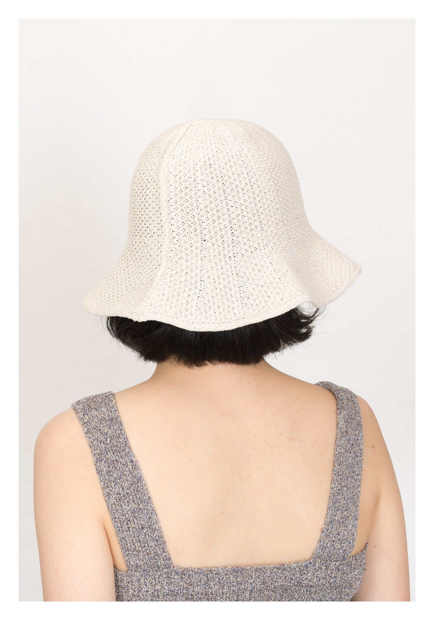 Summer Buckle Hat White - whoami