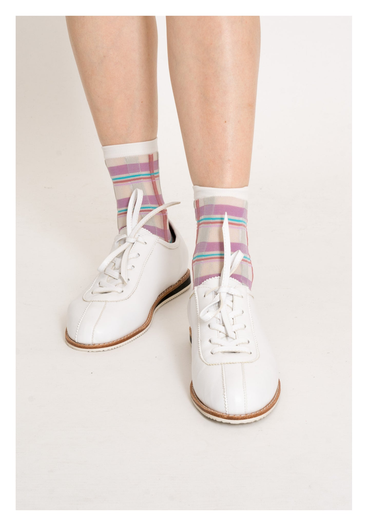 Summer Nice Colour Checker Socks Pink - whoami
