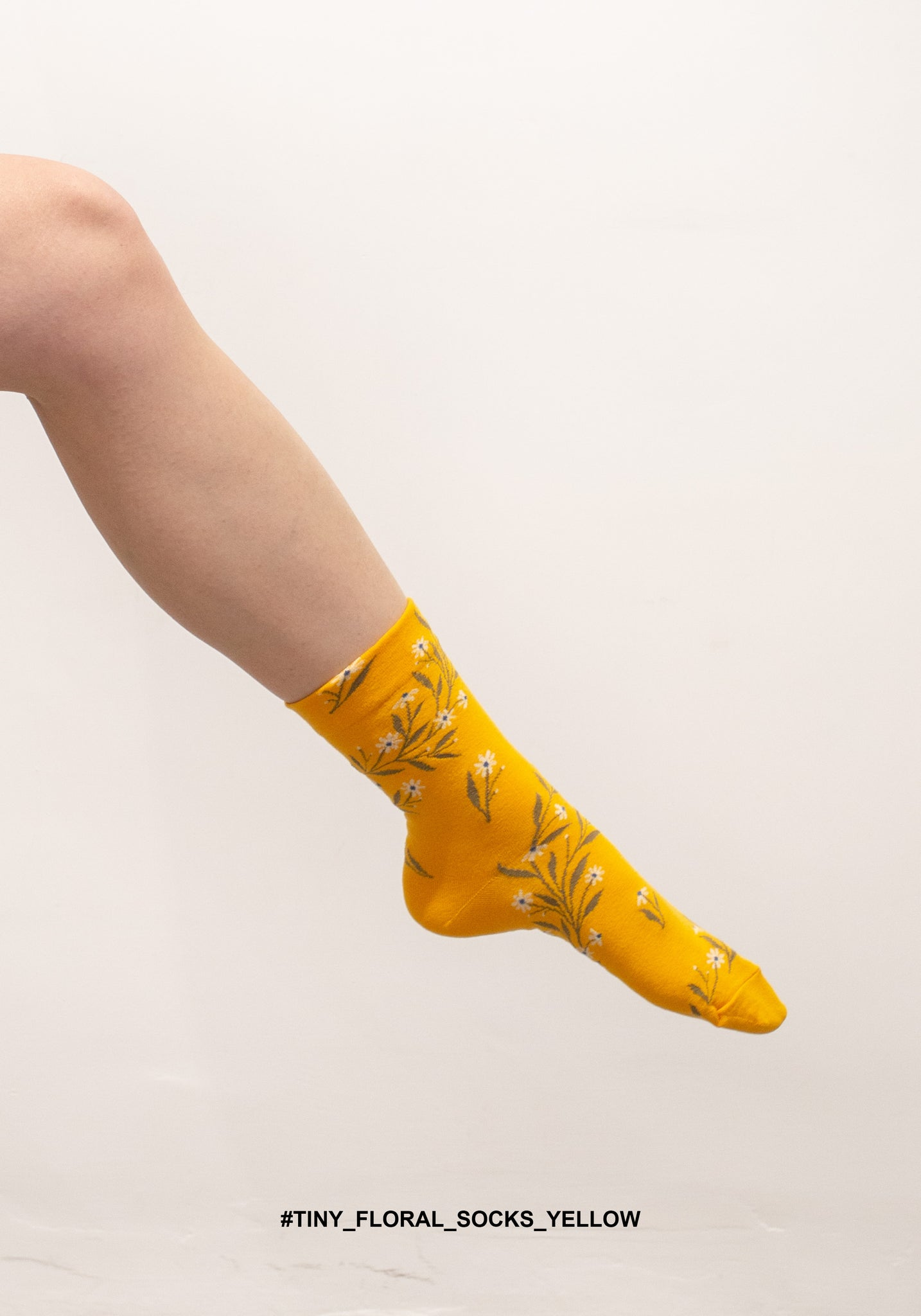 Tiny Floral Socks Yellow - whoami
