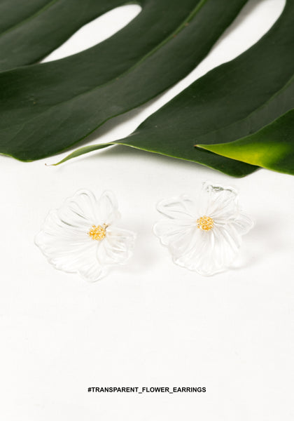 Transparent Flower Earrings - whoami