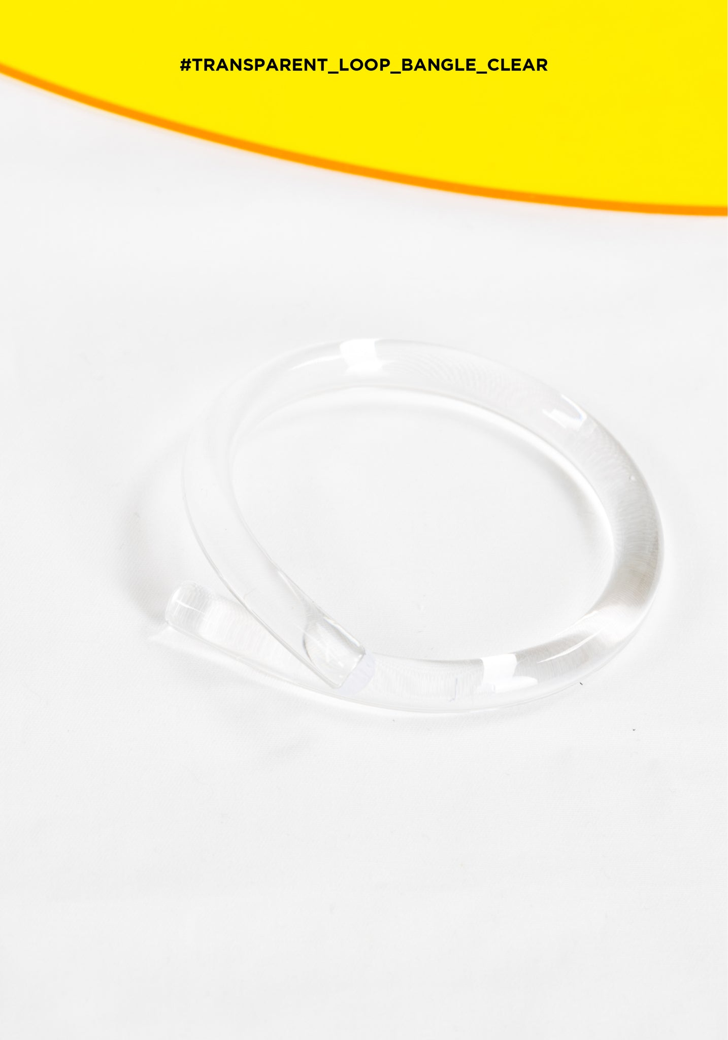 Transparent Loop Bangle Clear - whoami