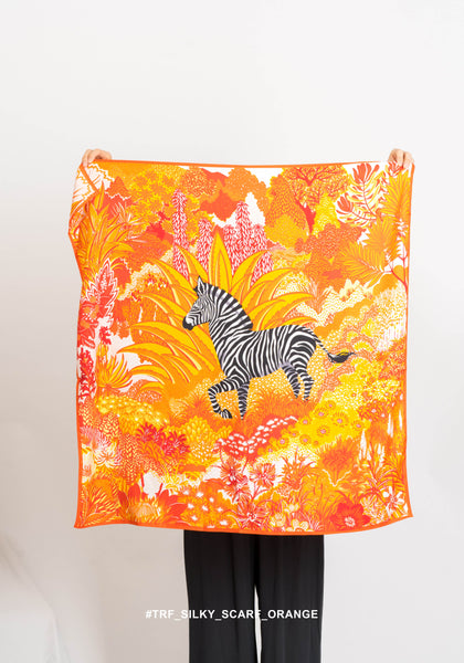 TRF Silky Scarf Orange - whoami