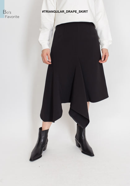 Triangular Drape Skirt - whoami