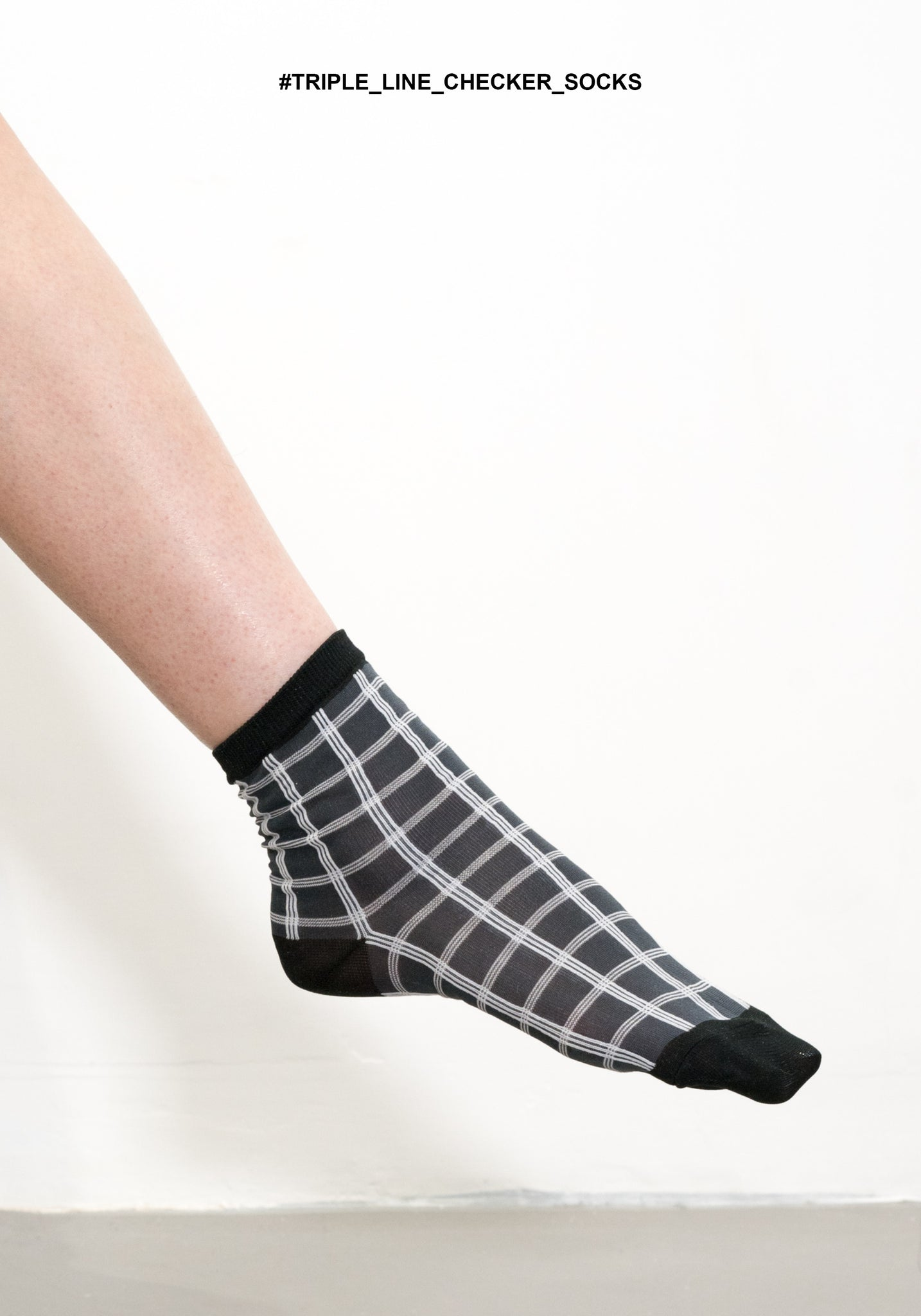 Triple Line Checker Socks - whoami