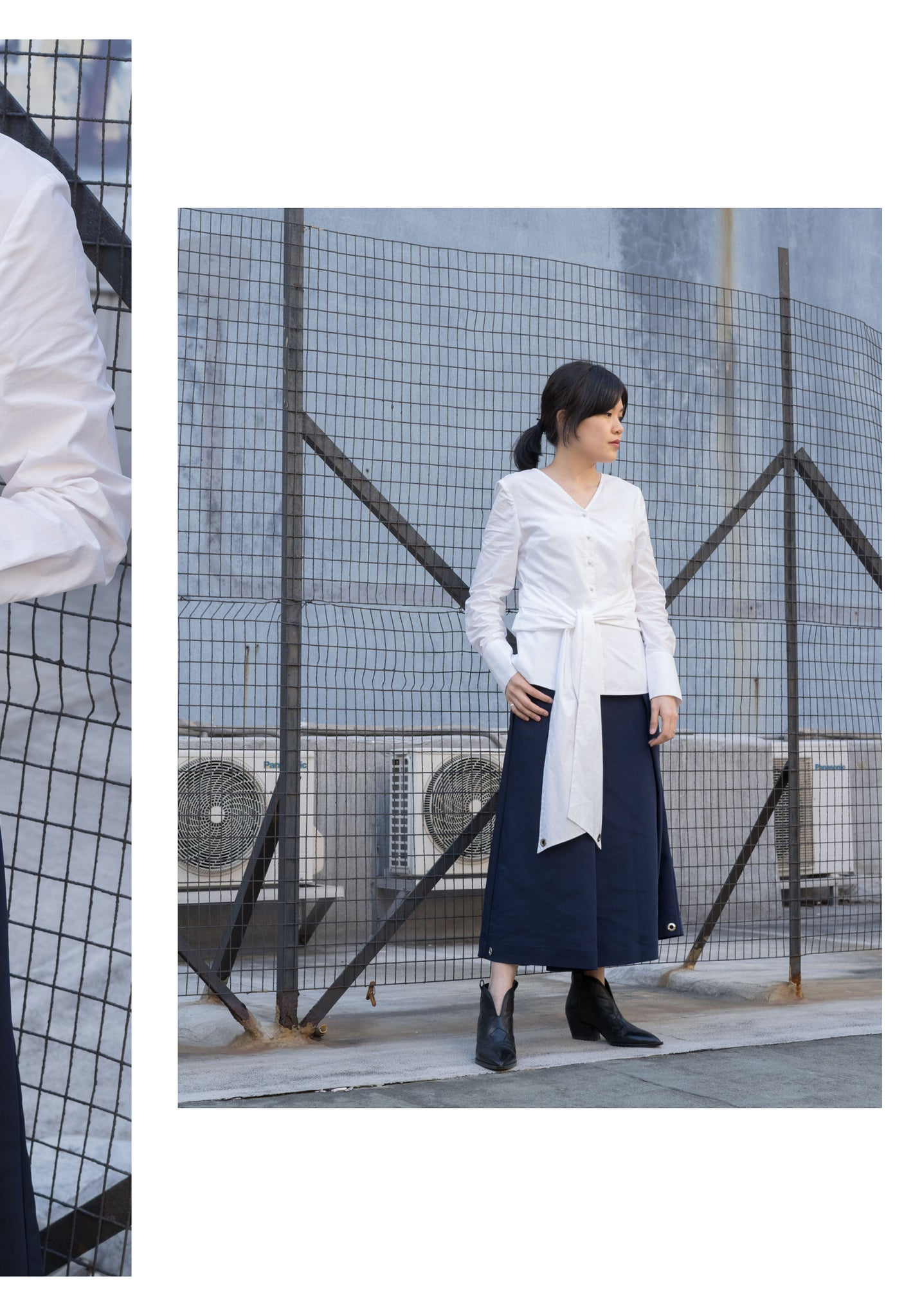 Two Ways Tie Blouse White - whoami