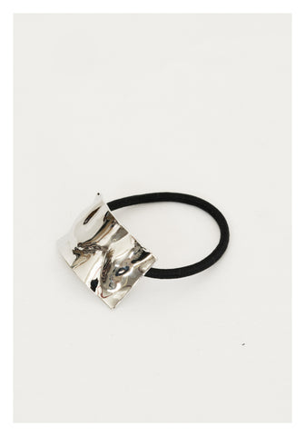 Textured Rectangle Hairband Silver - whoami