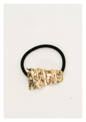 Textured Trapezoid Hairband Gold - whoami