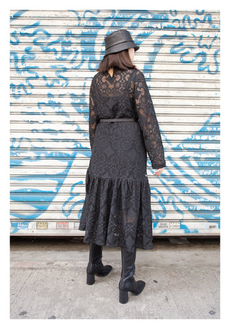 The Moment Lace Dress Black - whoami