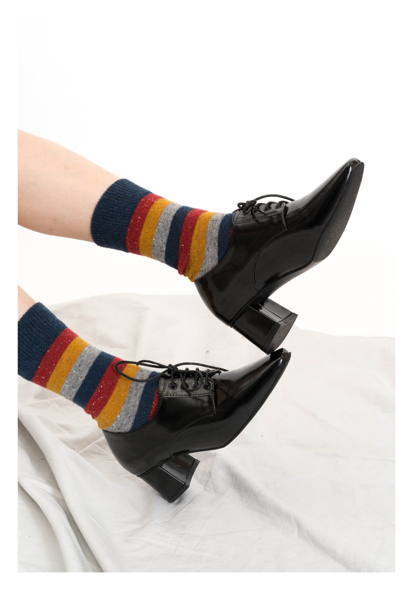 Thick Colour Stripe Wool Socks - whoami