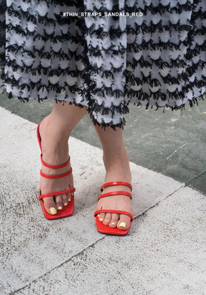 Thin Straps Sandals Red - whoami
