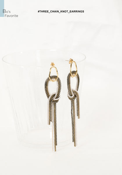 Three Chain Knot Earrings - whoami