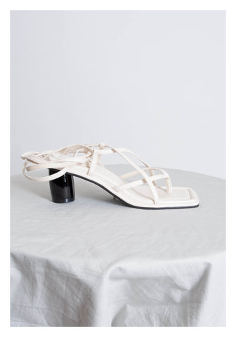 Tie Strap Sandals White - whoami
