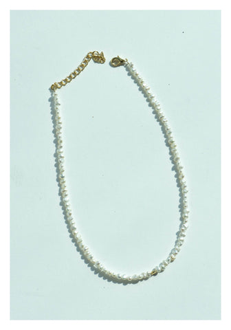 Tiny Fresh Water Pearl Necklace - whoami