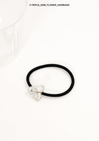 Triple Gem Flower Hairband - whoami