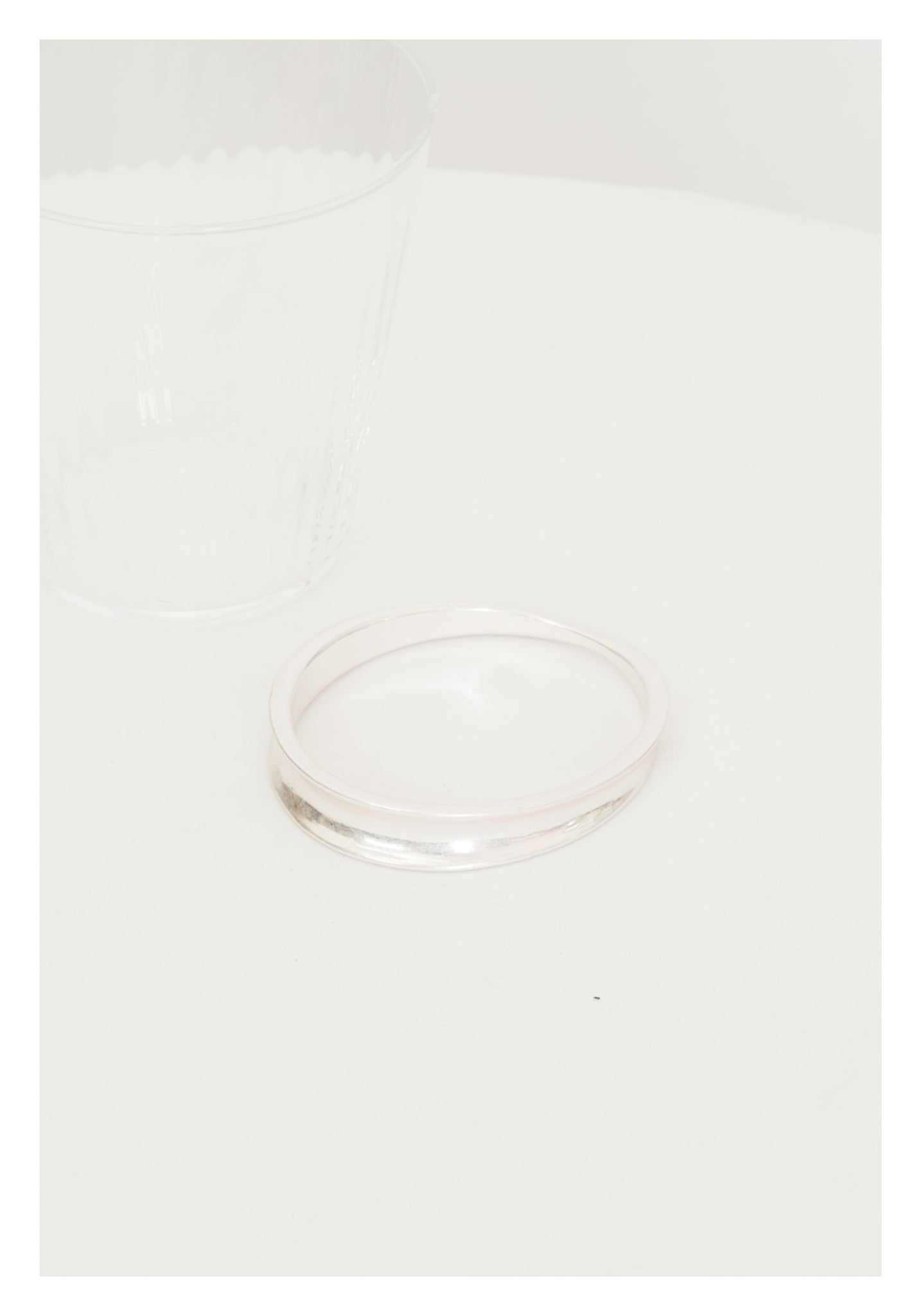 Twisted Ellipse Bangle Silver - whoami