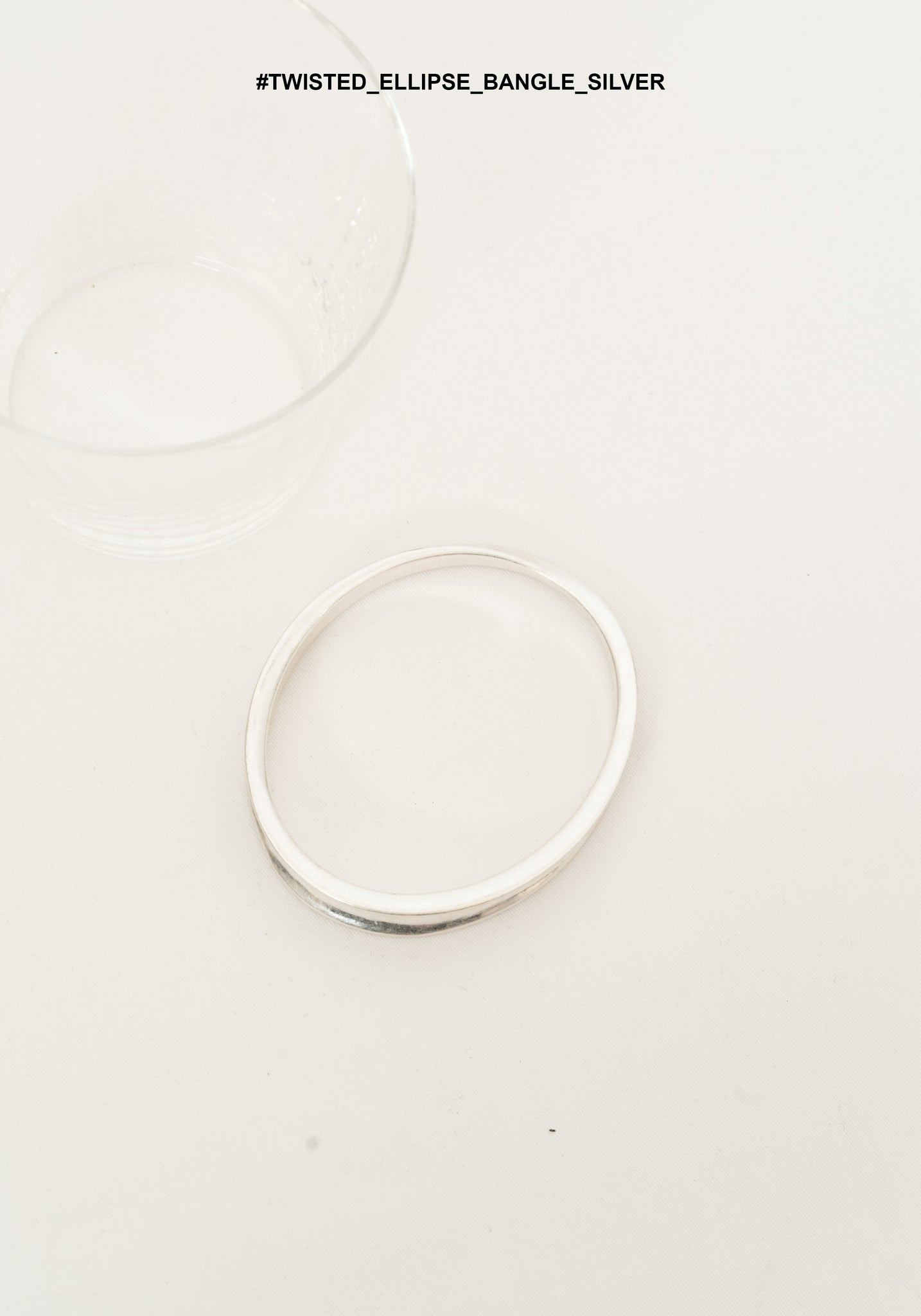 Twisted Ellipse Bangle Silver