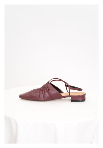 Twisted Taper Head Shoes Burgundy