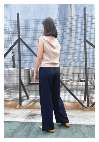 Two Way Boxy Top Beige - whoami