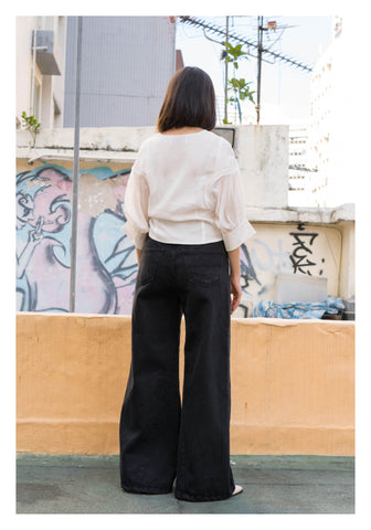 Unwashed Wide Leg Jeans - whoami