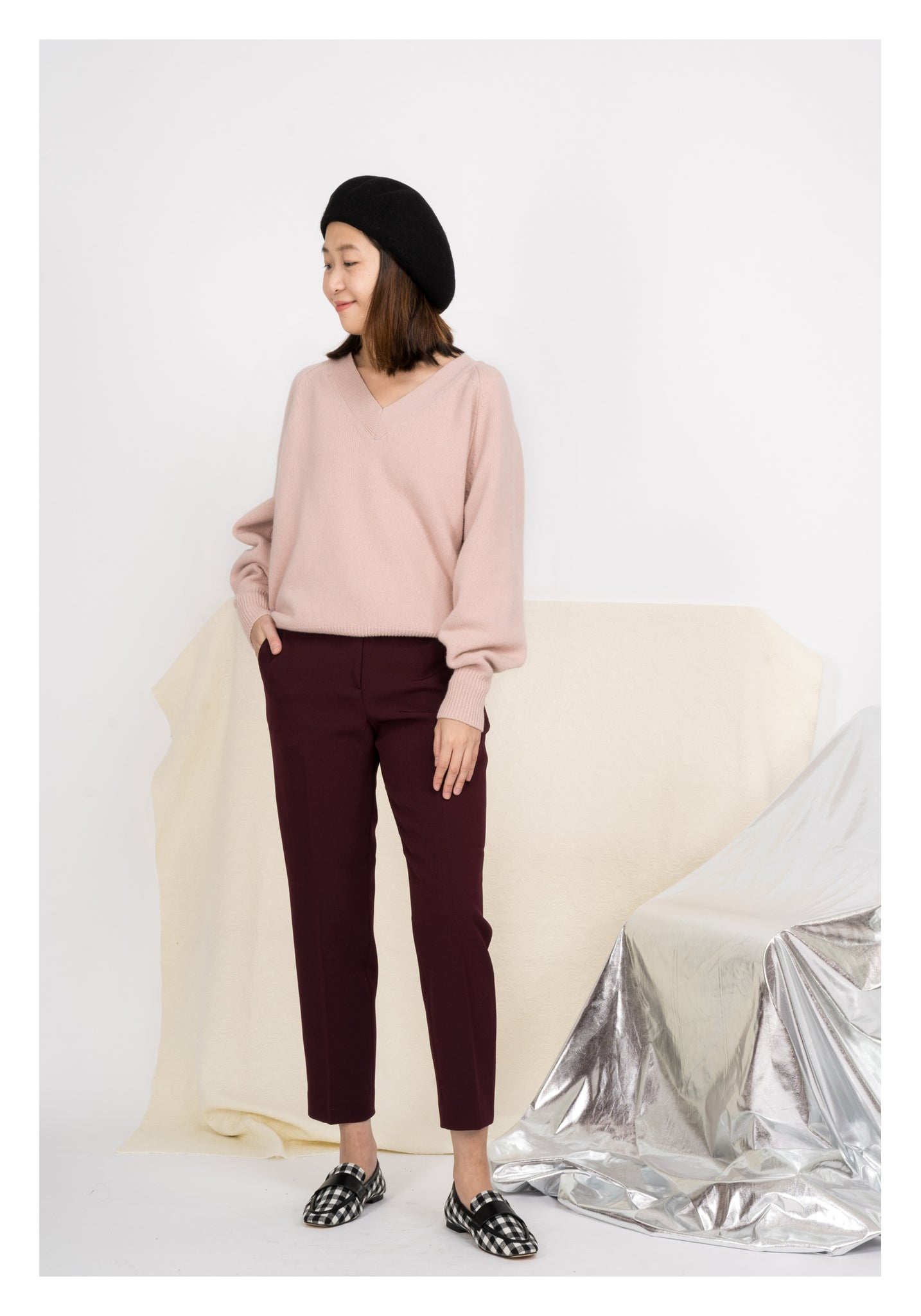 Wine Colour Pants