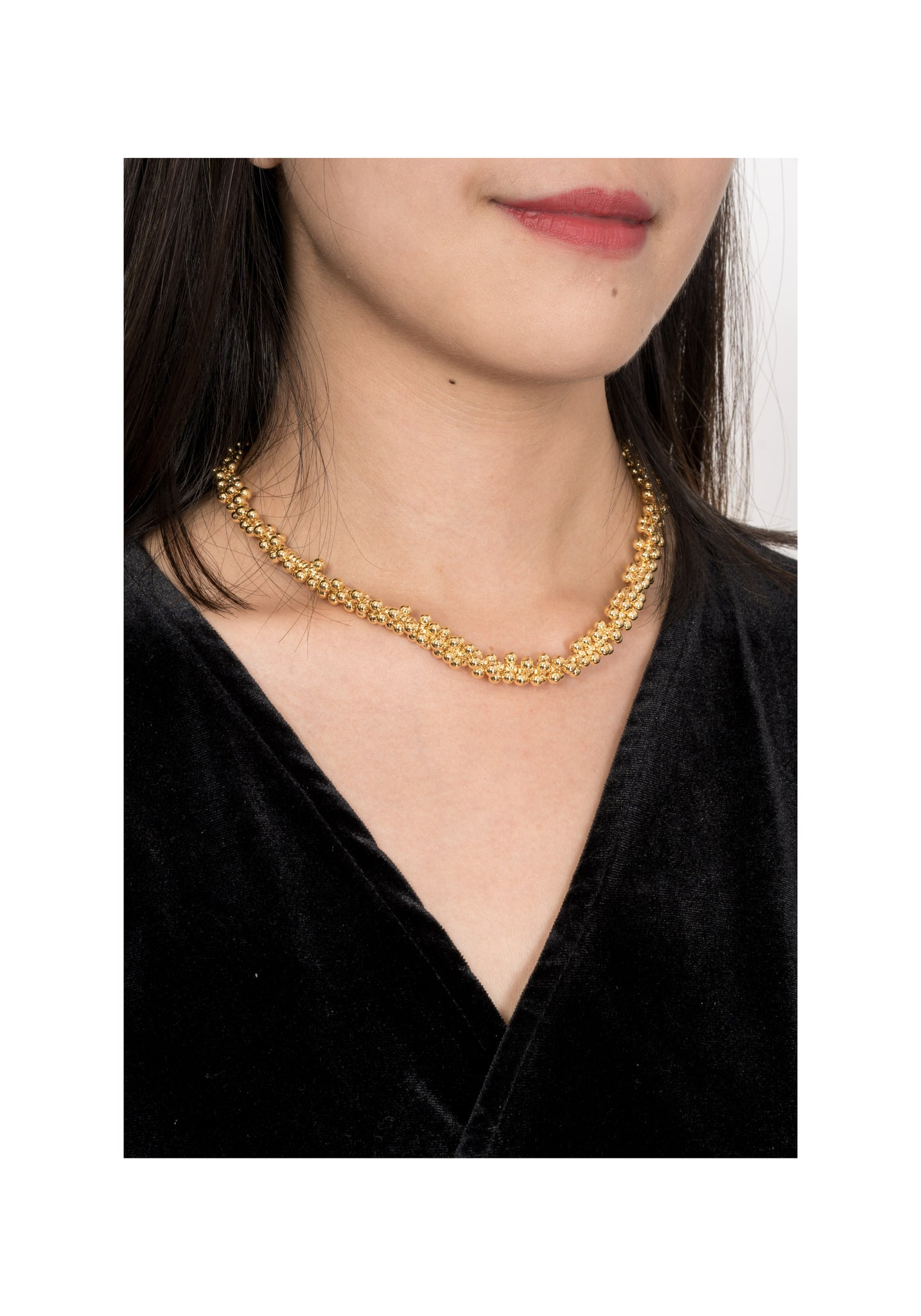 Playful Dot Chain Necklace Gold - whoami