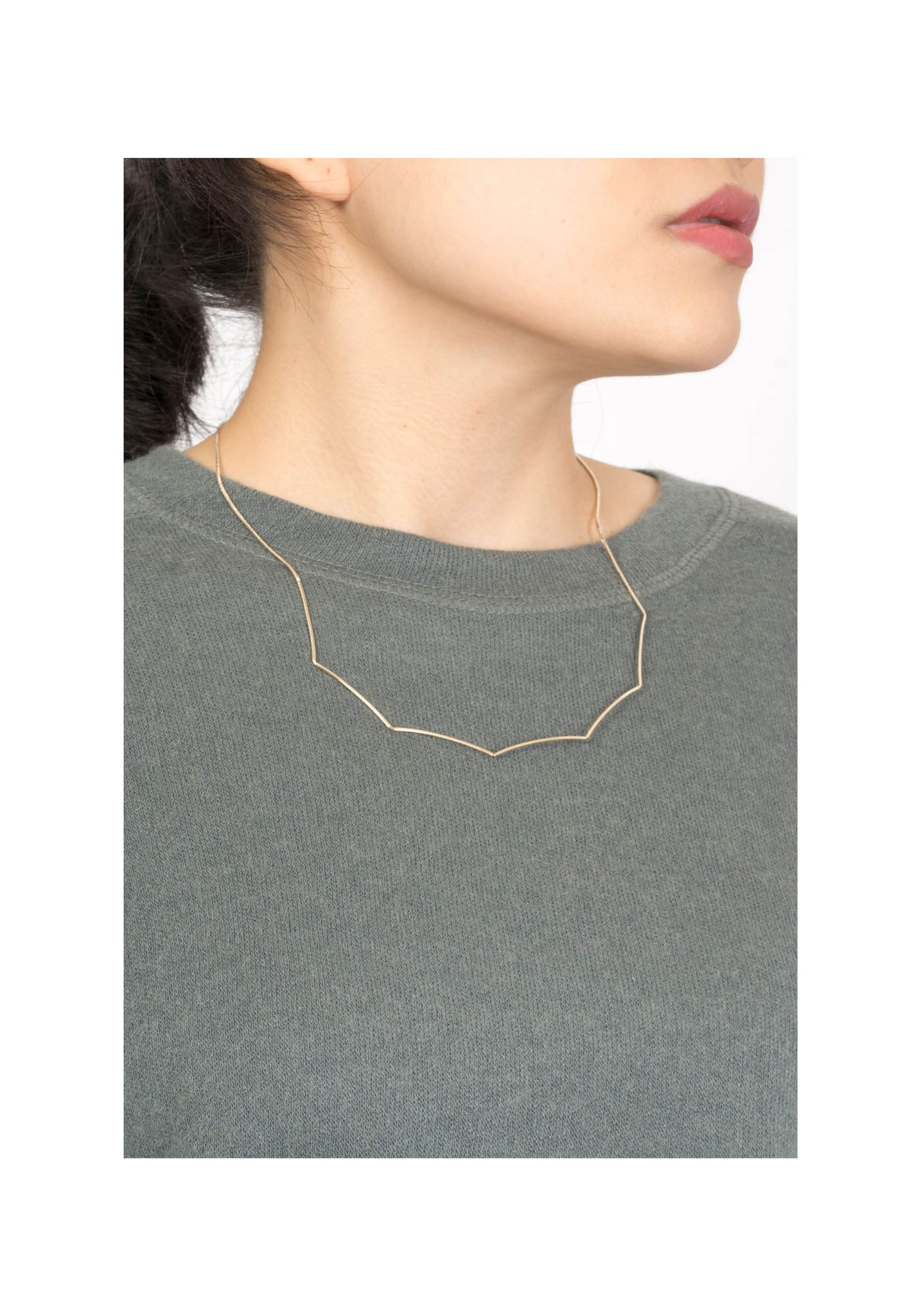 Polygon Bar Necklace Gold - whoami