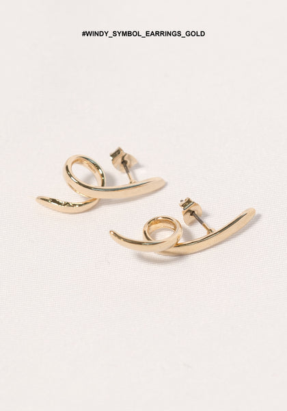 Windy Symbol Earrings Gold