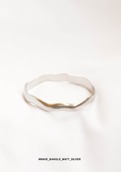 Wave Bangle Matt Silver - whoami