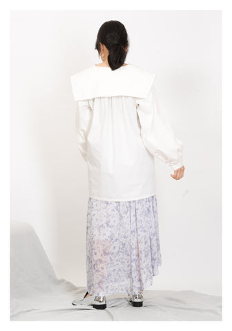Wide Collar Oversize Shirt White